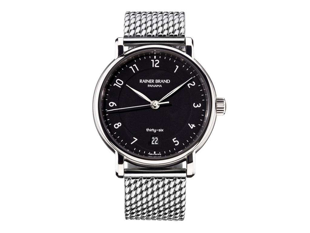 Uhren von Rainer Brand: Thirty-Six schwarz | Goldschmiede HJ Baier Konstanz